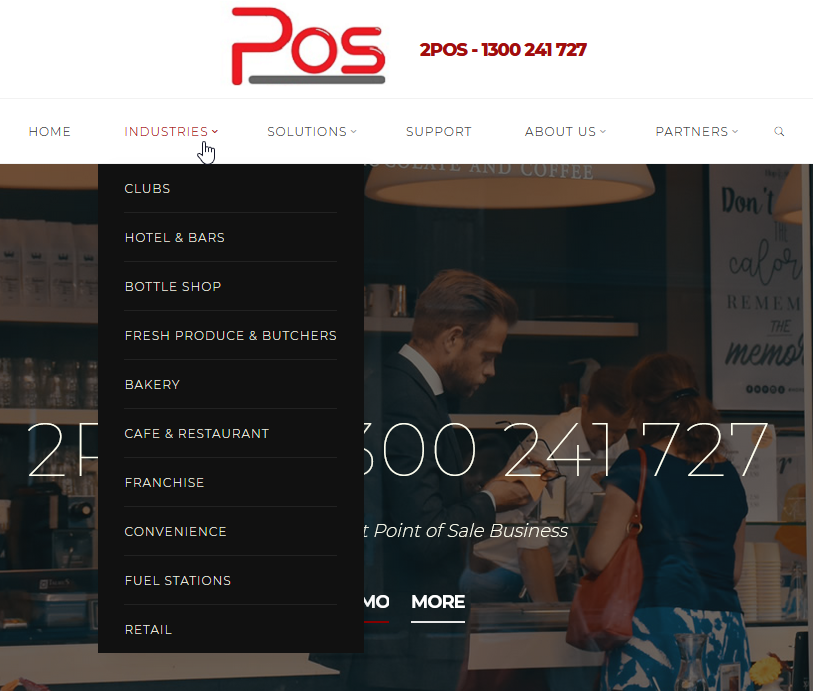 2POS Website project – 2pos.com.au